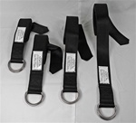 Double D-Ring Strap, HD, 8 foot, Black