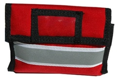Emergency Medical Blood Pressure Cuff Case, Adult, Red